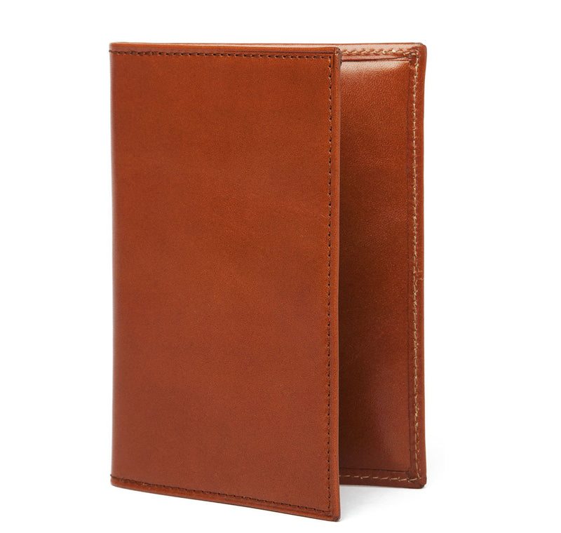 Cognac Leather Passport Holder