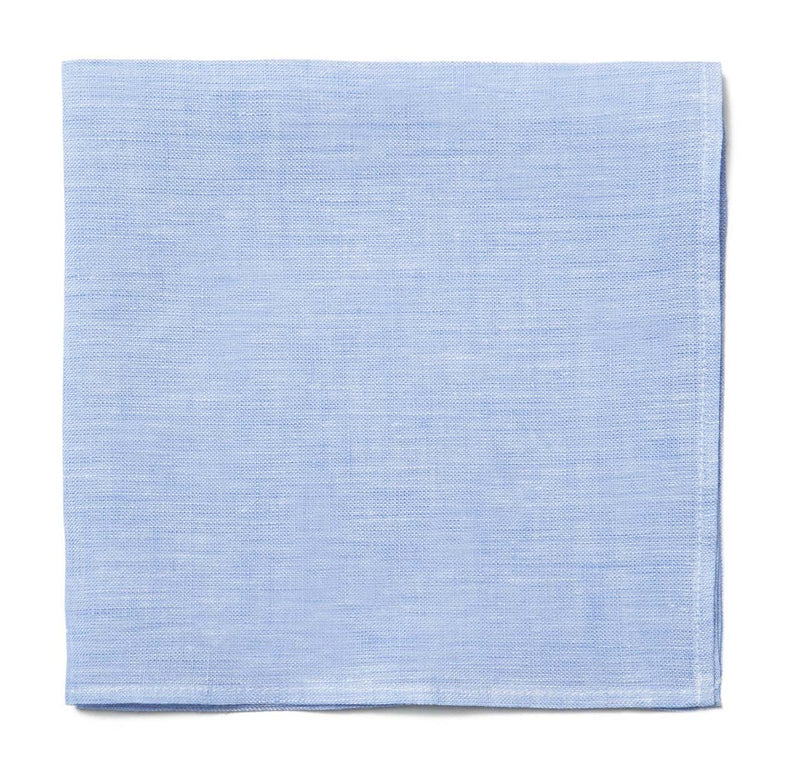 Sir Jack's Blue Linen Pocket Square