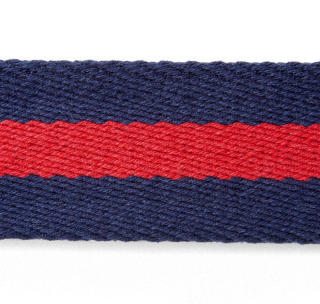 Sir Jack's Brigade Red Stripe Ribbon Belt