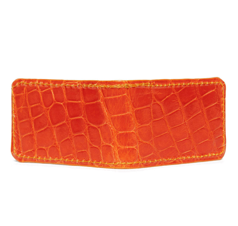 Glazed Orange Alligator Money Clip