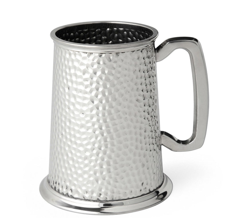 Hammered Pewter Tankard