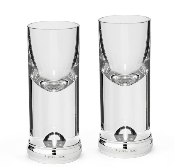 Sir Jack's Sterling Silver & Crystal Tall Shot Glass Set