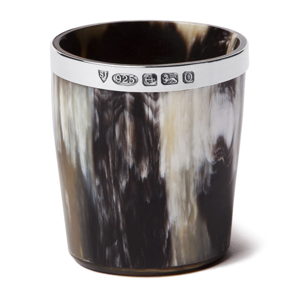 Sir Jack's Sterling Silver Ox Horn Whiskey Tumbler