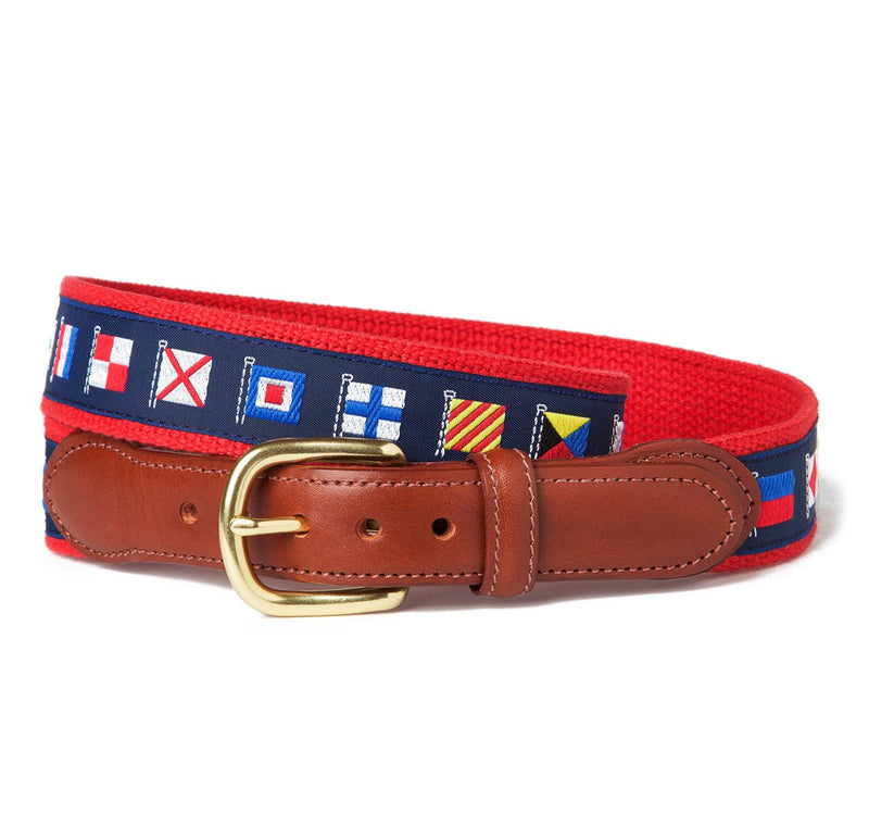 Sir Jack's Yachting Flags Ribbon Belt