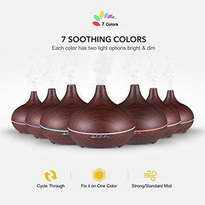 Ultrasonic Wooden 300ml Diffuser
