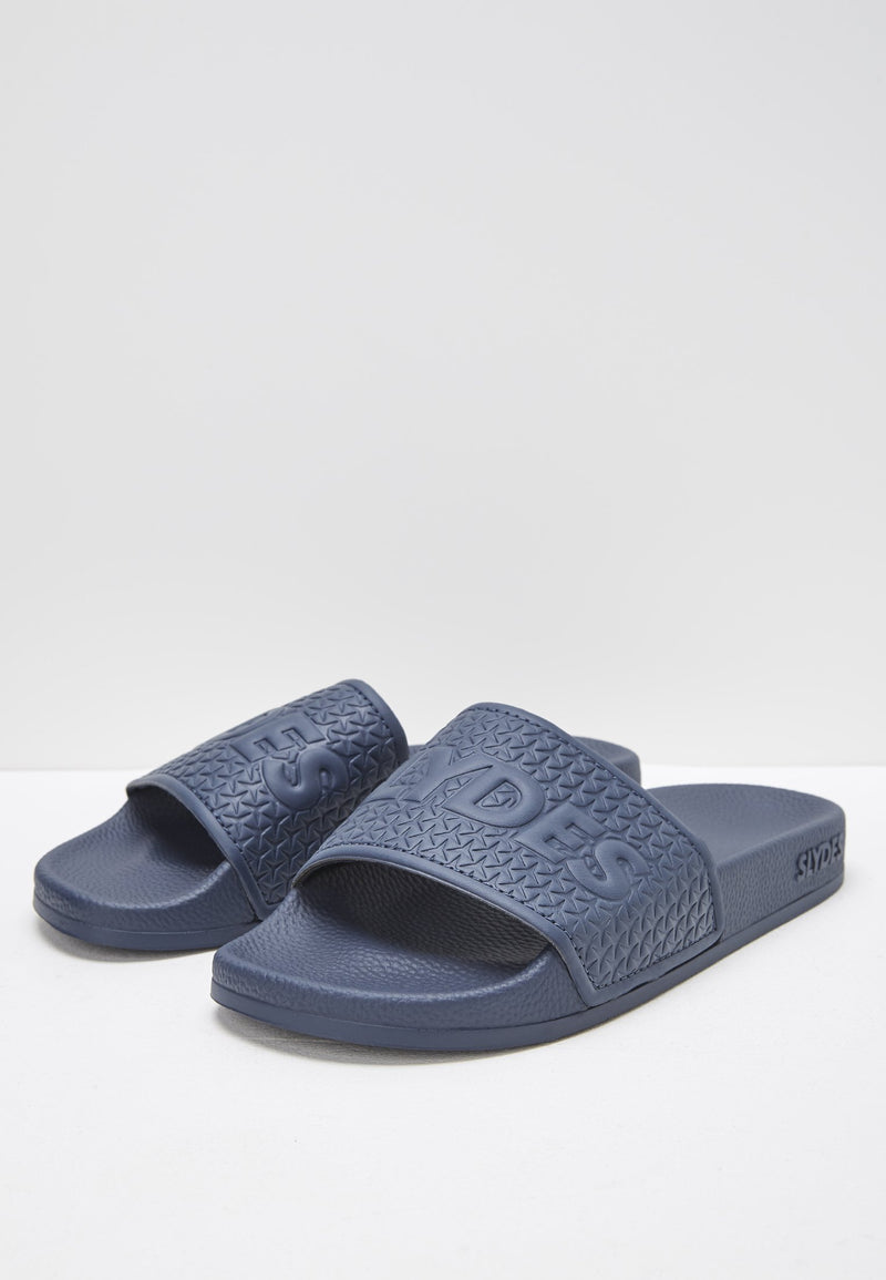 Cali Men's Navy Sliders