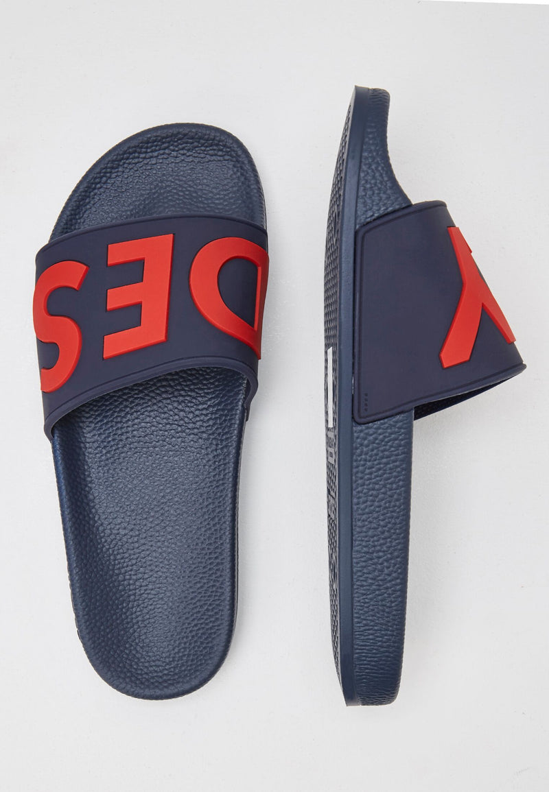 Deflect Men's Navy Sliders