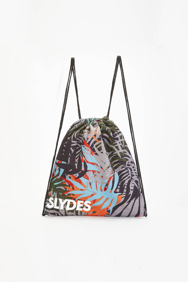 Cyber Dark Print Convertible Beach Towel and Drawstring Bag