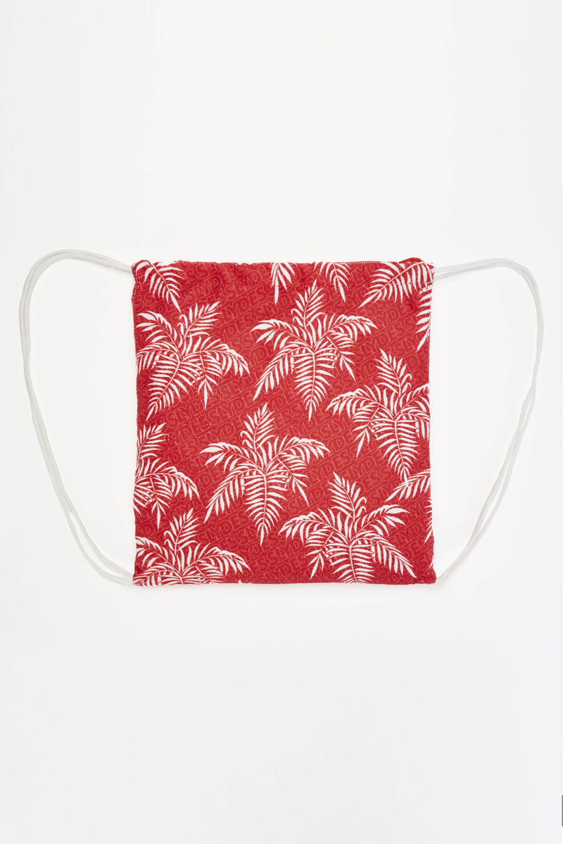 Noise Red Beach Towel Drawstring Bag