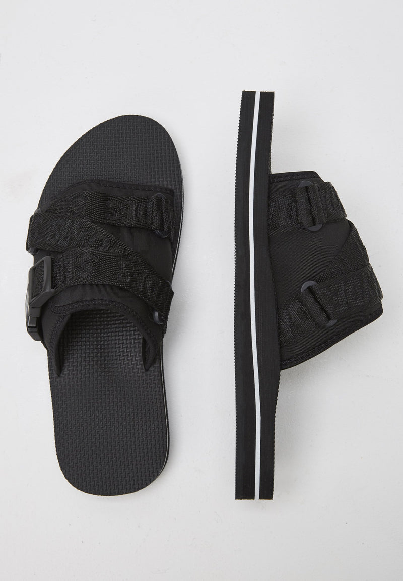 Flex Men's Black Sliders