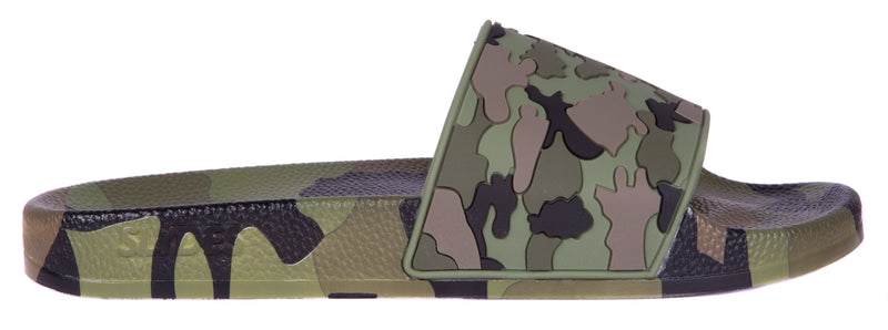 Loco Men's Khaki Camo Sliders