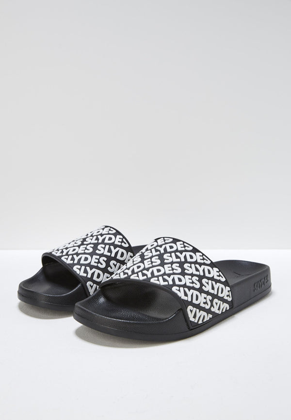 Lucid Women's Black and White Sliders