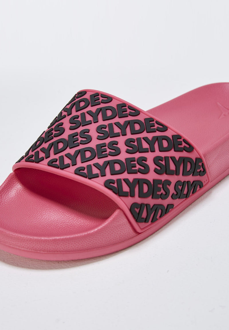 Lucid Women's Pink and Black Sliders