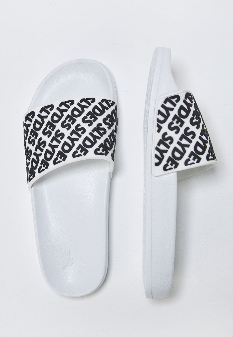 Lucid Women's White and Black Sliders