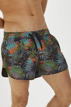 Mandalay Mens Dark Cyber Print Swim Shorts
