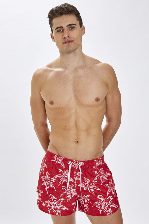 Mandalay Mens Red Noise Print Swim Shorts