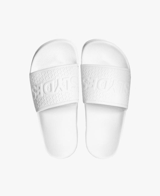 Cali White Women's Slider Sandals