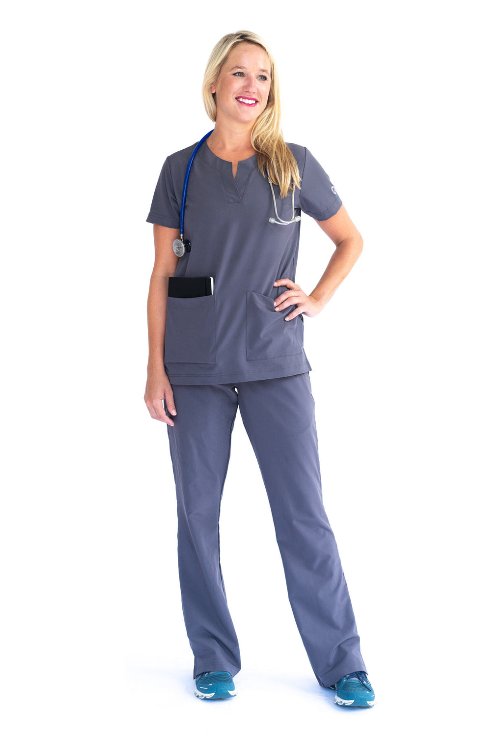 Cumberland Contemporary Scrub Top for Nurses