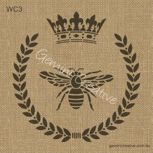 BEE CROWN WREATH STENCIL