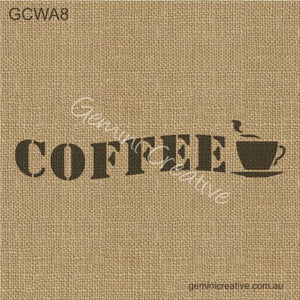 COFFEE AND CUP STENCIL - GEMINI CREATIVE