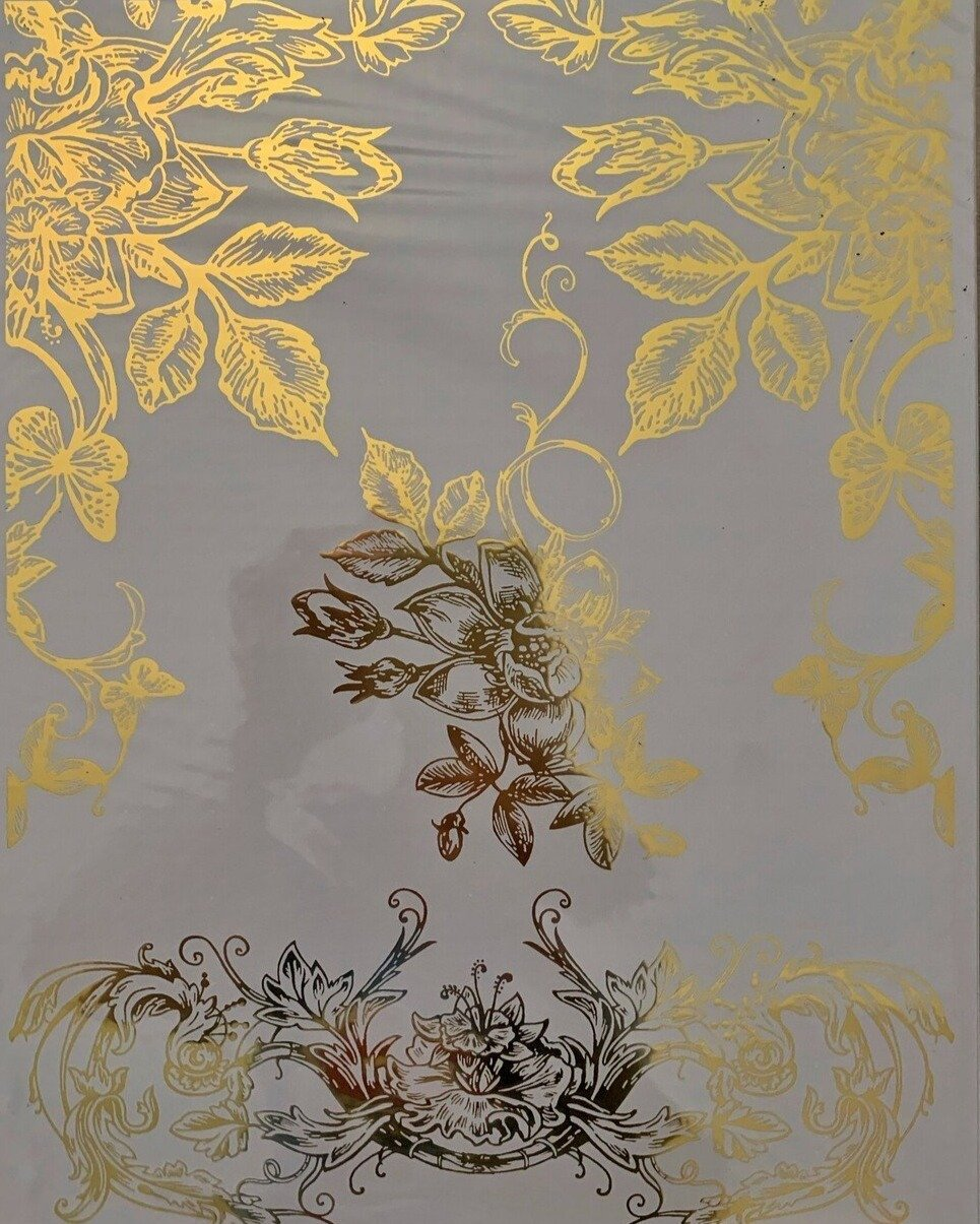 GOLD FOIL SCROLLS *** HOKUS POKUS DECOR TRANSFER