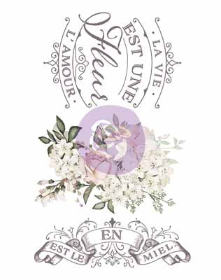 LA VIE EST UNE FLEUR *** RE-DESIGN WITH PRIMA TRANSFER