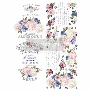 LAVENDER BUSH **** RE-DESIGN WITH PRIMA TRANSFER