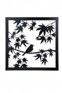 METAL BLACK BIRDS WALL ART