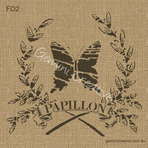 PAPILLION IN WREATH STENCIL - GEMINI CREATIVE