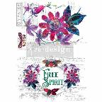 PASSION FLOWER *** RE-DESIGN WITH PRIMA TRANSFER