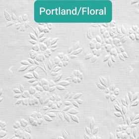 PORTLAND / FLORAL - PAINTABLE WALLPAPER