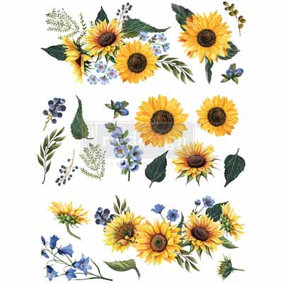 SUNFLOWER FIELDS *** REDESIGN WITH PRIMA TRANSFER