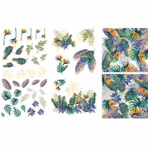 TROPICAL LEAVES TRANSFER - BELLES AND WHISTLES