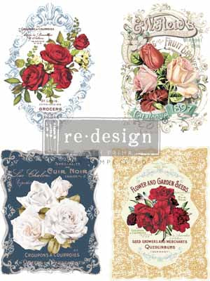 WILD ROSES **** RE-DESIGN WITH PRIMA TRANSFER