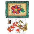 WONDROUS FLORA *** RE-DESIGN WITH PRIMA TRANSFER