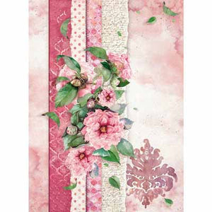 FLOWERS 4U PINK *** STAMPERIA RICE PAPER