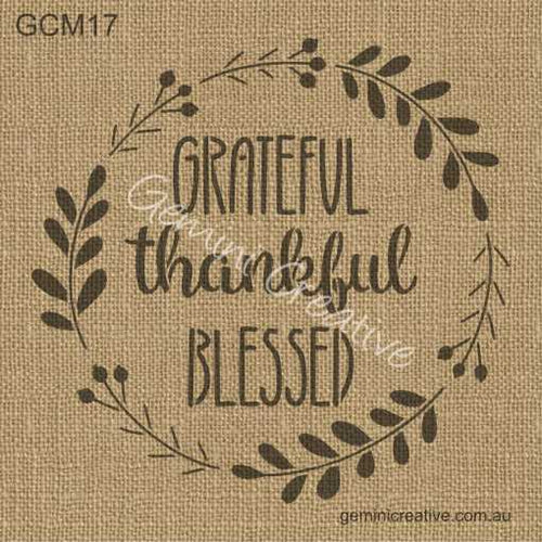 GRATEFUL WREATH STENCIL - GEMINI CREATIVE