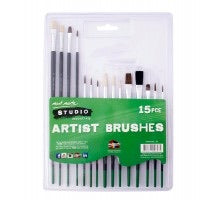 15 PIECE ARTISTS BRUSHES - MONT MARTE ART SUPPLIES