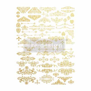 GILDED ORNATE FLOURISHES *** RE-DESIGN WITH PRIMA TRANSFER