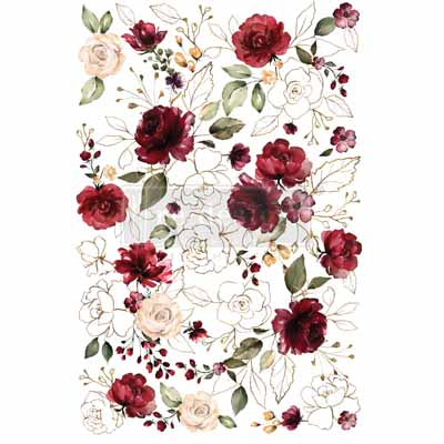 MIDNIGHT FLORAL *** RE-DESIGN WITH PRIMA TRANSFER