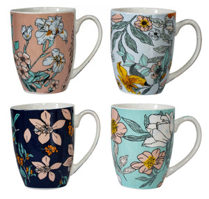 MUGS FLORAL PASTELS ASSORTED