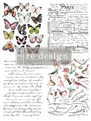 PARISIAN BUTTERFLIES *** RE-DESIGN WITH PRIMA TRANSFER