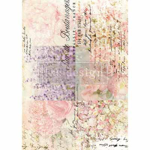 FLORAL GARDENS TRANSFER  - Redesign With Prima Transfer