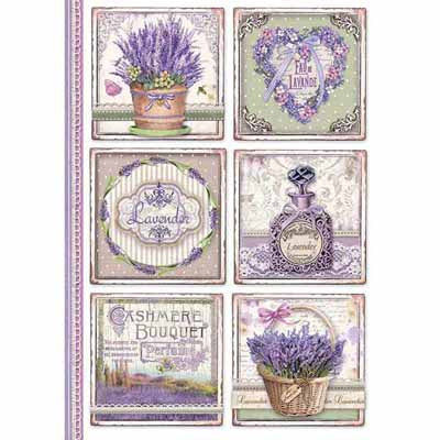 PROVENCE CARDS *** STAMPERIA RICE PAPER