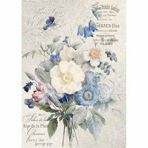 OLD ENGLAND BOUQUET RICE PAPER - STAMPERIA