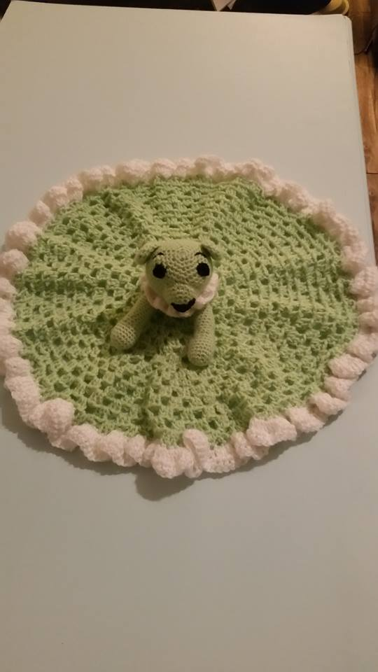 Green Teddy Bear Lovey