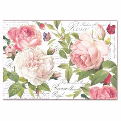 VINTAGE ROSE *** STAMPERIA RICE PAPER