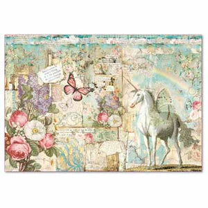 WONDERLAND UNICORN *** STAMPERIA RICE PAPER