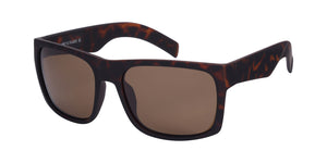 p651098u Brown Large Wayfarer Polarized Sunglasses