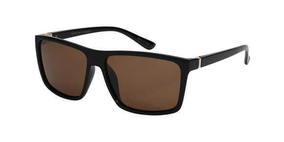 p652110u Brown Wayfarer Polarized TAC Lens Sunglasses